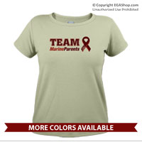 _T-Shirt (Ladies): Team MarineParents