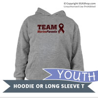 _Youth Hoodie or Long Sleeve Shirt: Team Marine Parents