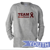 _Youth Long Sleeve Shirt: Team Marine Parents