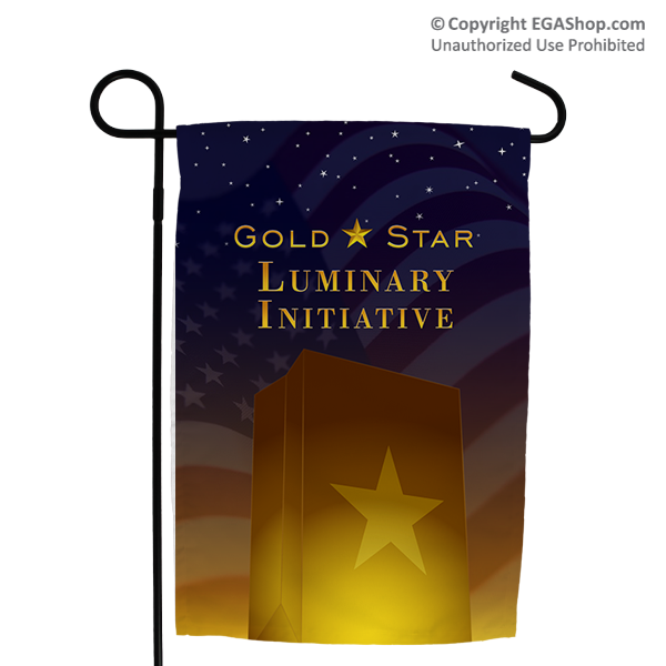 Garden Flag: Gold Star Luminary Initiative