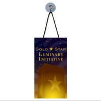 Suncatcher, Rectangle: Gold Star Luminary Initiative