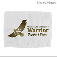 Car Flag: (Double-sided, 11x14 w/ pole) WII Warrior Support Team