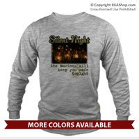 _Long Sleeve Shirt (Unisex): Silent Night (Unisex)