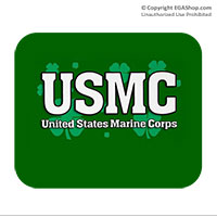Mousepad: USMC Shamrocks
