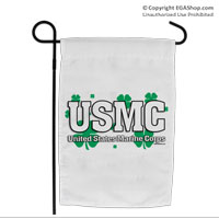 Garden Flag: USMC Shamrocks