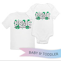 _T-Shirt/Onesie (Toddler/Baby): USMC Shamrocks