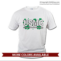 _T-Shirt (Unisex): USMC Shamrocks