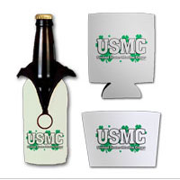 Beverage Insulator: USMC Shamrocks (Can, Bottle or Coffee)