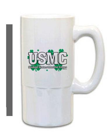 Mugs Steins Usmc Shamrocks