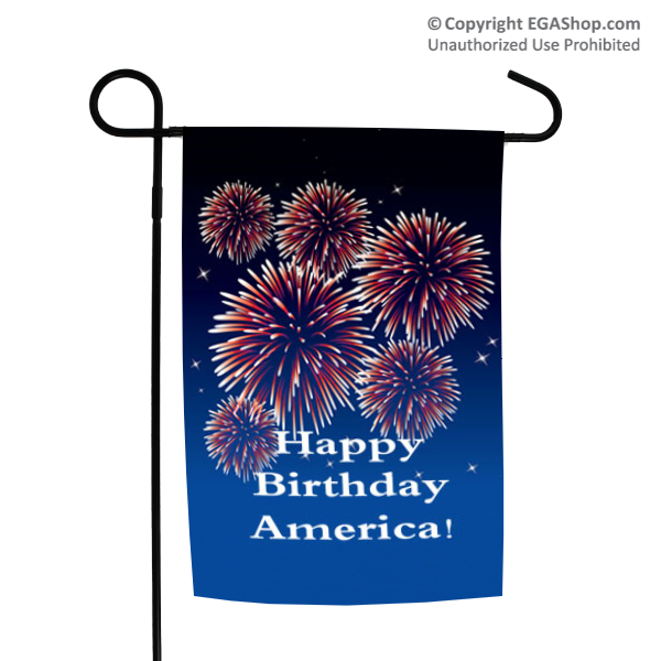 Garden Flag: Happy Birthday America!