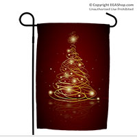 Garden Flag: Christmas Tree with EGA on top