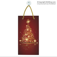 Suncatcher, Rectangle: Christmas Tree with EGA on top