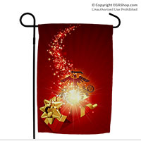Garden Flag: Christmas Gift Box and EGA