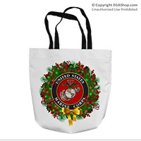 Tote Bag: USMC Seal Wreath