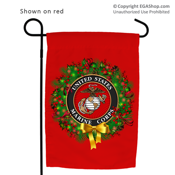 Garden Flag: USMC Seal Wreath