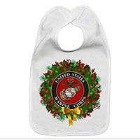 Baby Bib: USMC Seal Wreath