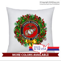 Pillow Sham: USMC Seal Wreath