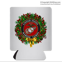 Koozie, can: USMC Seal Wreath