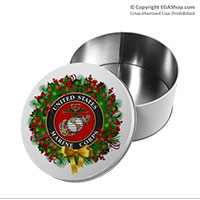 Gift Tin: USMC Seal Wreath