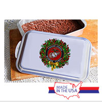 Cake Pan and Lid: USMC Seal Wreath