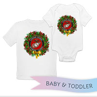 _T-Shirt/Onesie (Toddler/Baby): USMC Seal Wreath