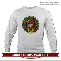 _Long Sleeve Shirt (Unisex): USMC Seal Wreath