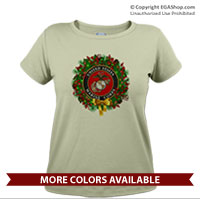 _T-Shirt (Ladies): USMC Seal Wreath
