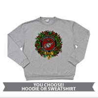 _Sweatshirt or Hoodie: USMC Seal Wreath