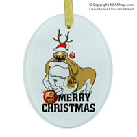 Ornament: Semper Fido Christmas (glass)