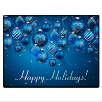Doormat: Blue Ornaments