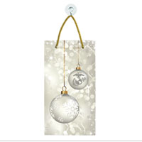 Suncatcher, Rectangle: Silver Ornaments