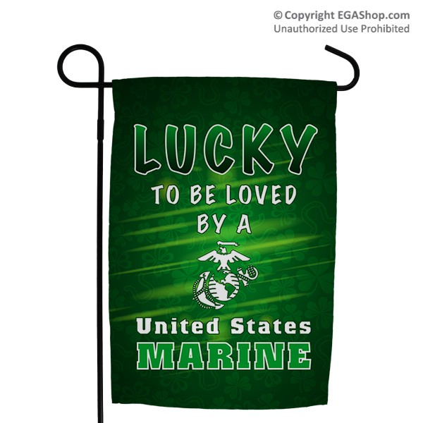 Garden Flag: Lucky to be Loved by a US Marine