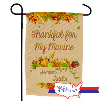 Garden Flag: Thankful for My Marine(s)
