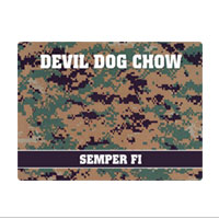 Pet Bowl Place Mat: Devil Dog Chow - Camo