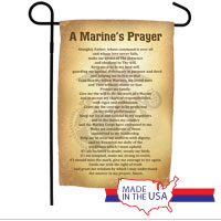 Garden Flag: A Marine's Prayer (Vintage)