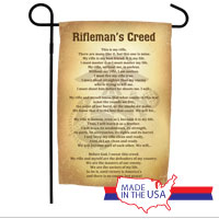 Garden Flag: Rifleman's Creed (Vintage)