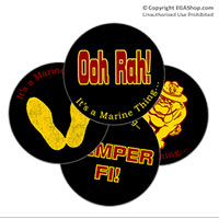 Coaster Set: Semper Fi, It's a Marine Thing (Sandstone or Rubber)