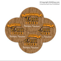 Coaster Set: Tun Tavern (Sandstone or Rubber)