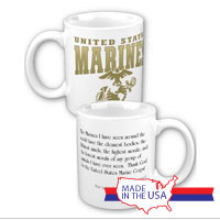 Ceramic Mug: Marines Quote Eleanor Roosevelt