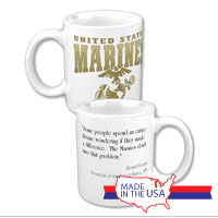 Ceramic Mug: Marines Quote President Reagan
