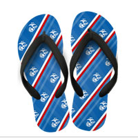 Flip Flops: (adult or youth sizes) Red, white, and blue