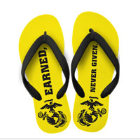 Flip Flops: (adult or youth sizes) Earned, Never Given