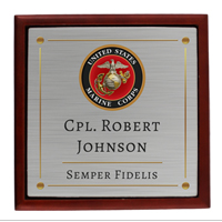 Keepsake Box: Seal and Semper Fidelis with Name