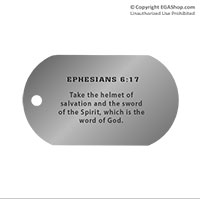 Dog Tag, Single: Scripture Ephesians 6:17