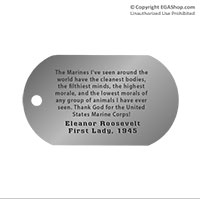 Dog Tag, Single: Quote, Eleanor Roosevelt