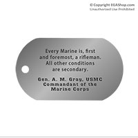 Dog Tag, Single: Quote, Gen. A. M. Gray
