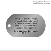 Z Dog Tag, Single: Quote, Gen. William Thornson
