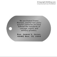 Z Dog Tag, Single: Quote, Gen. James L. Jones