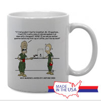 Mug (Made in USA): SemperToons - 20 Questions