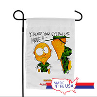 Garden Flag (Made in USA): SemperToons - Eyeballs Move